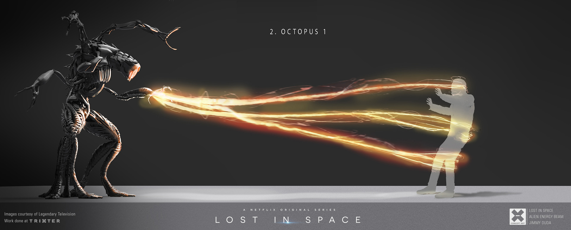 ArtStation - LOST IN SPACE - ALIEN ENREGY BEAM - CONCEPT ART