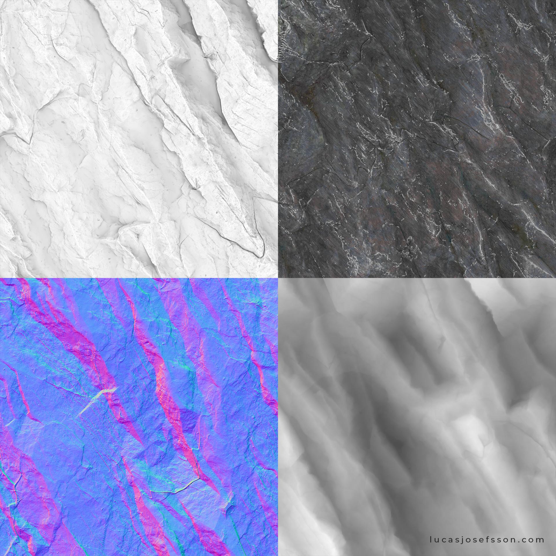 Lucas josefsson sharp cliff rock lucasjosefsson textures