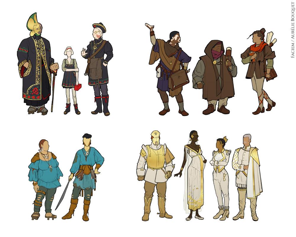 Faciem - Character design (WIP)