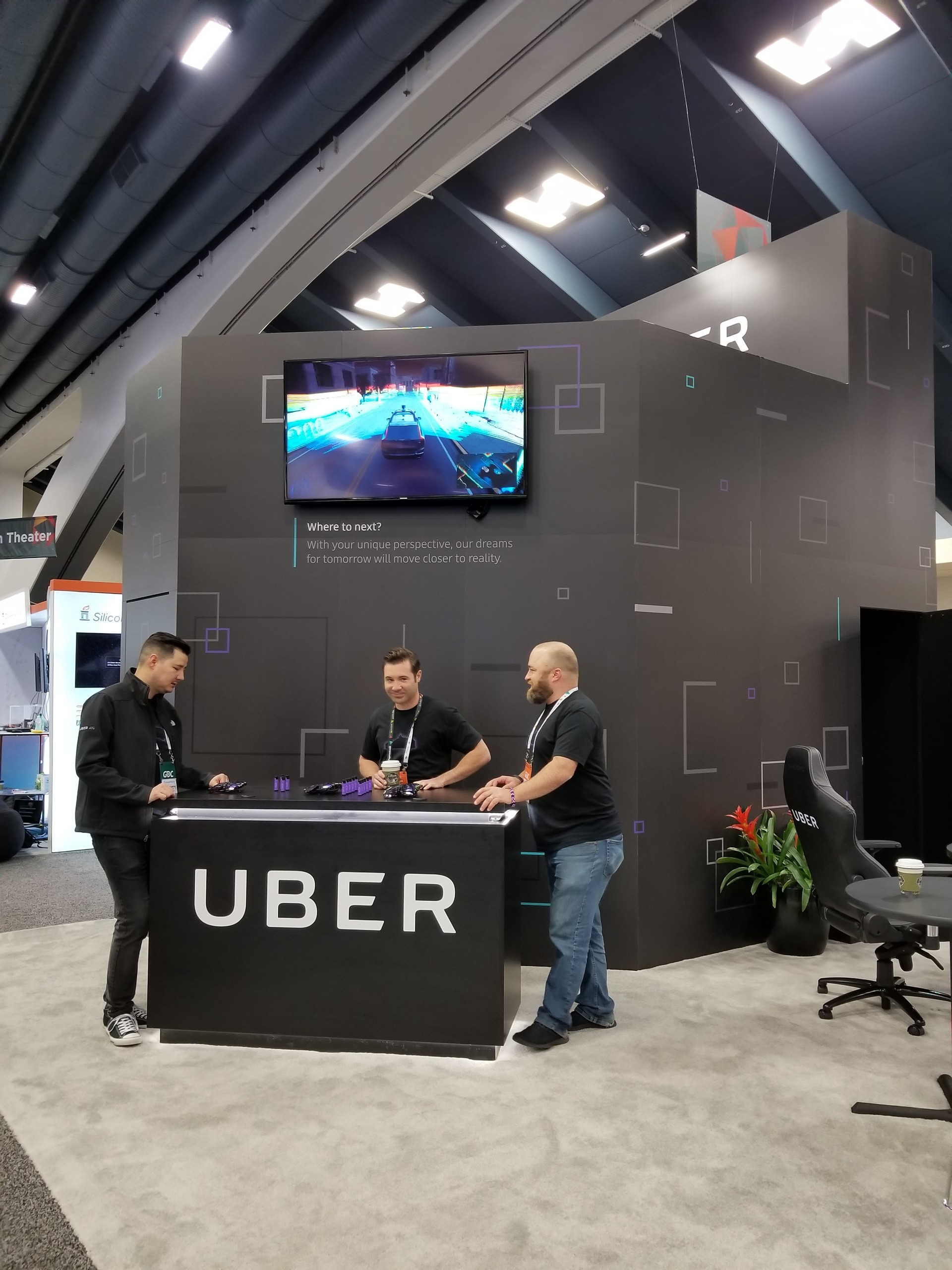 Uber's GDC booth