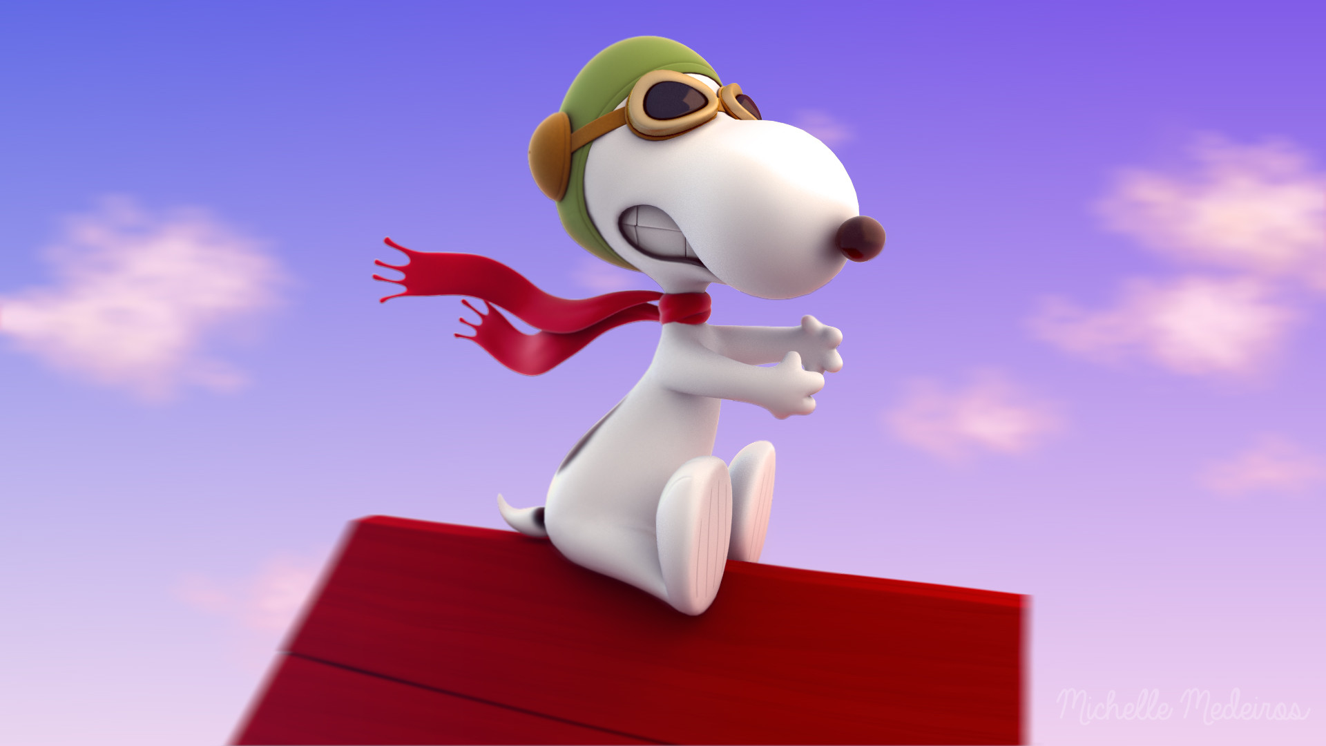 Обои Snoopy. Рендеринг foto 14