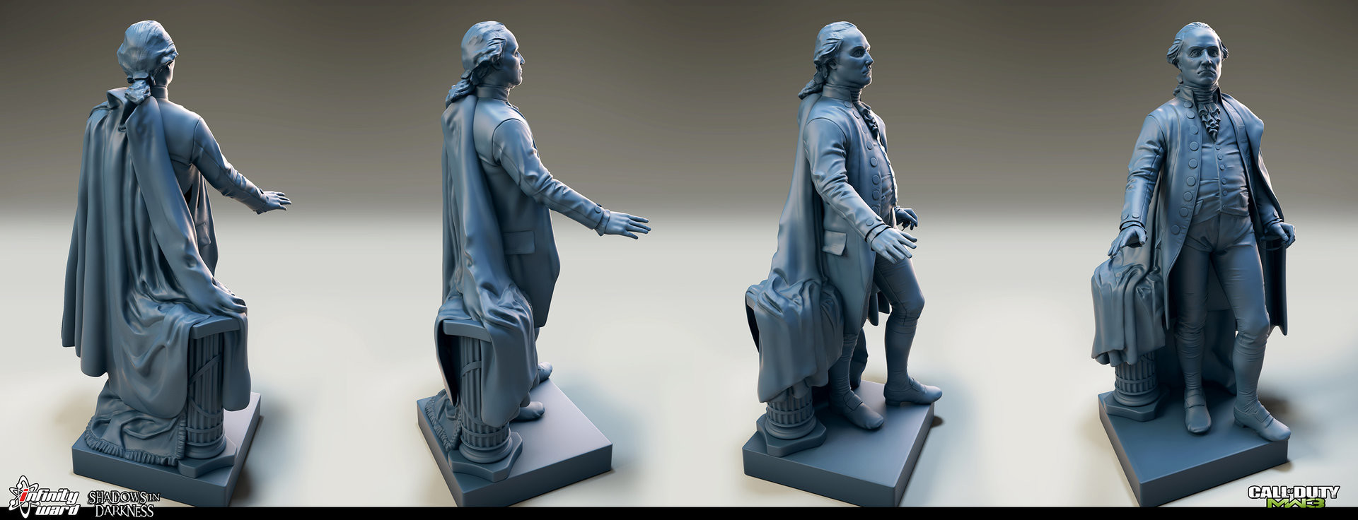 Udell Infante - George Washington Prop Statue