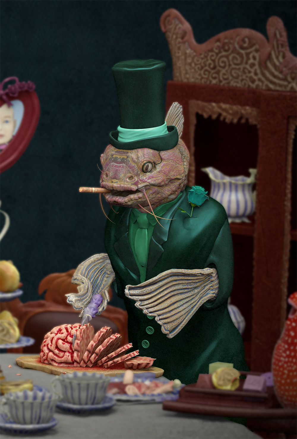 Fish Tea Time - Father Fish