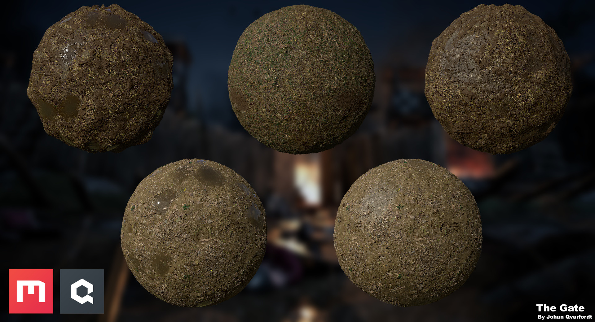 During this project I decided to try out the new Quixel Mixer, and it turned out to be a very promising software with the excellent material library of megascans. It's a very fast and effective way to create all kinds of materials that you could think of.