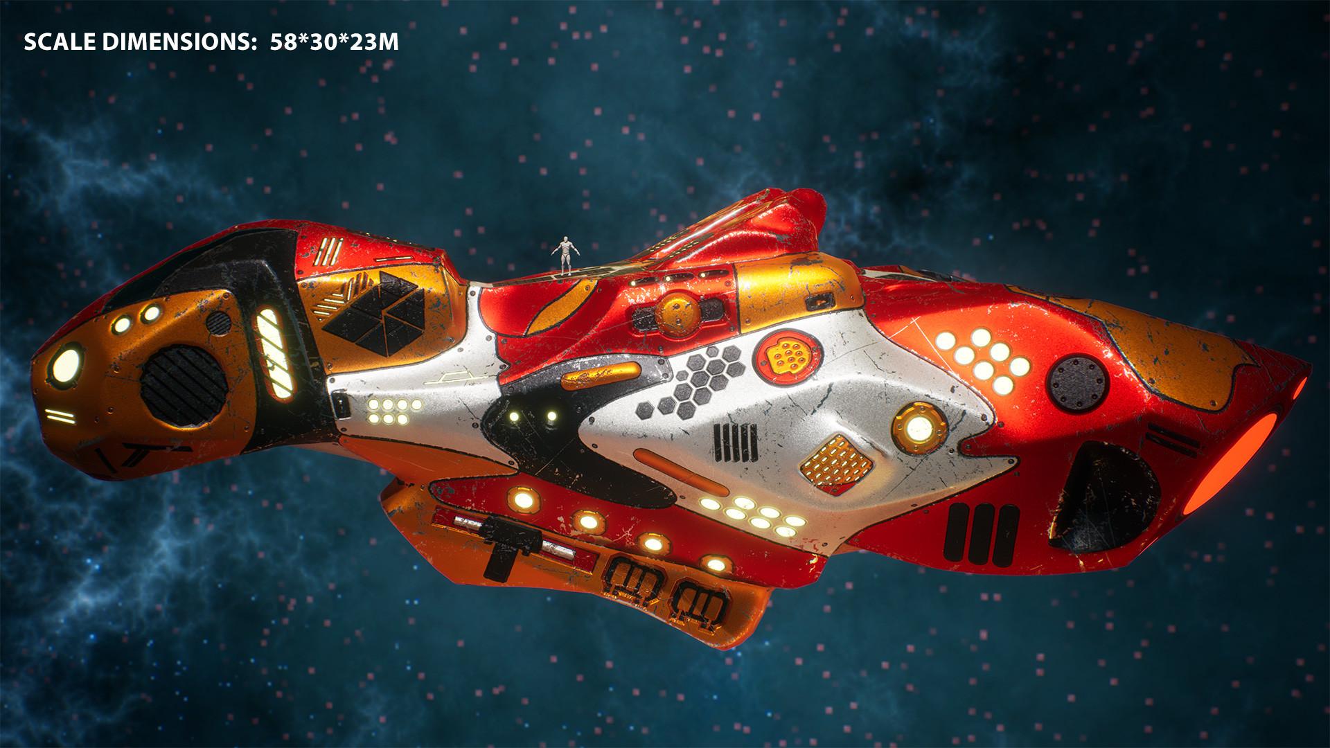 Andrew krivulya spaceship render 06