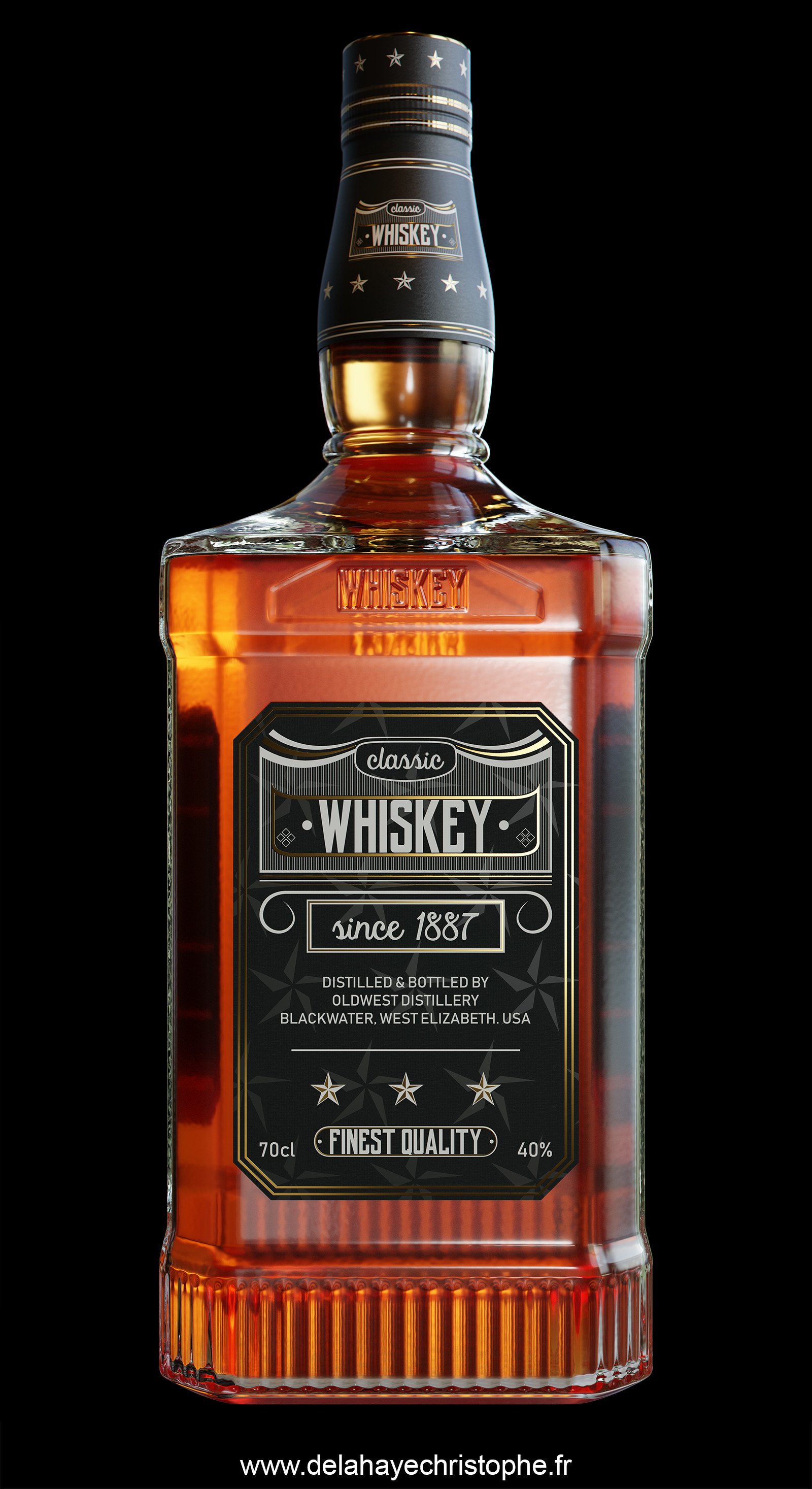 Whisky Bottle - Front view