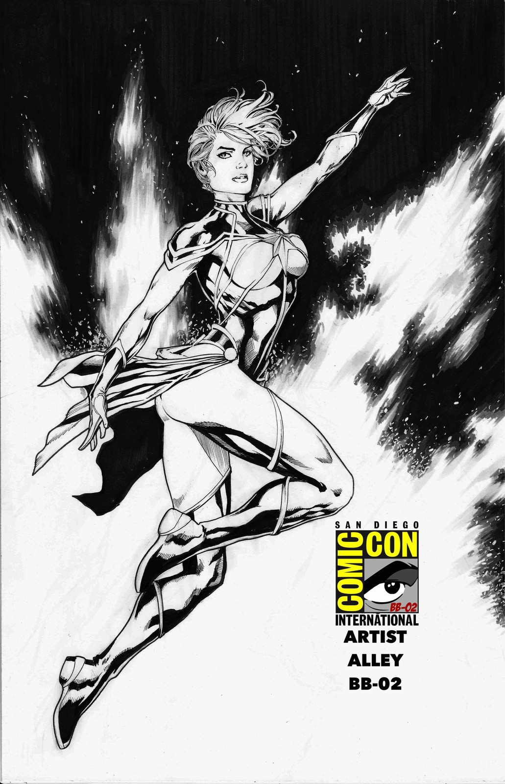 Inked Captain Marvel