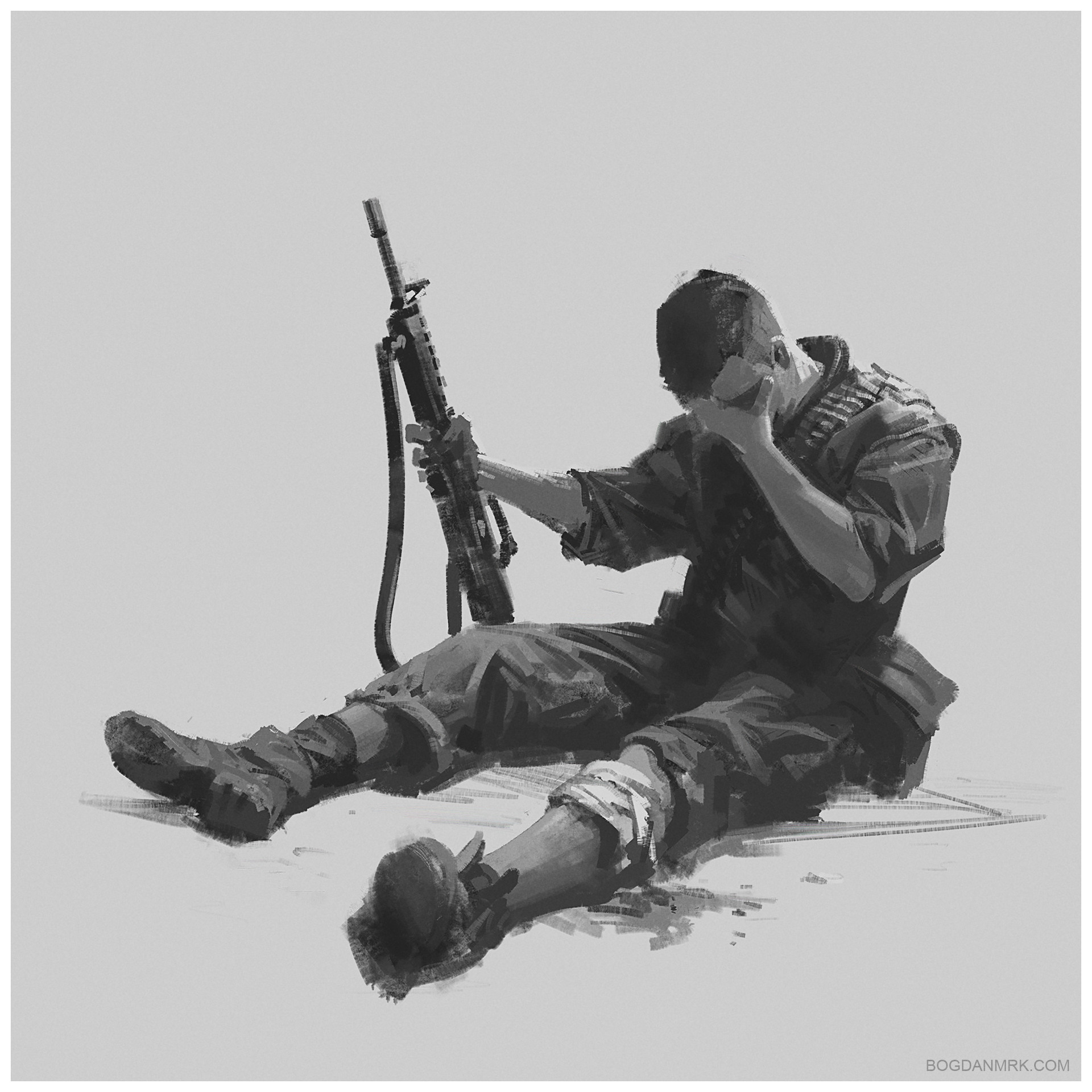 Bogdan marica bogdanmrk soldier sketch 01