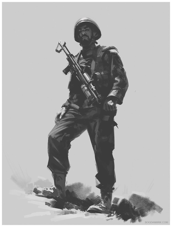 Bogdan marica bogdanmrk soldier sketch 03