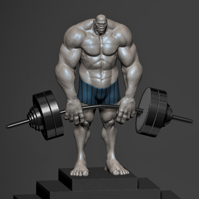 weight lifter pose 1 WIP