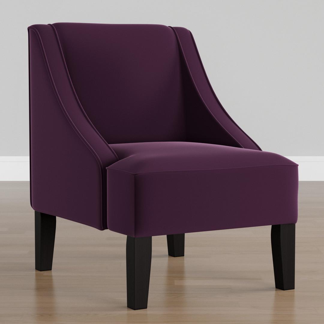Palisade Aubergine Velvet Arm Chair