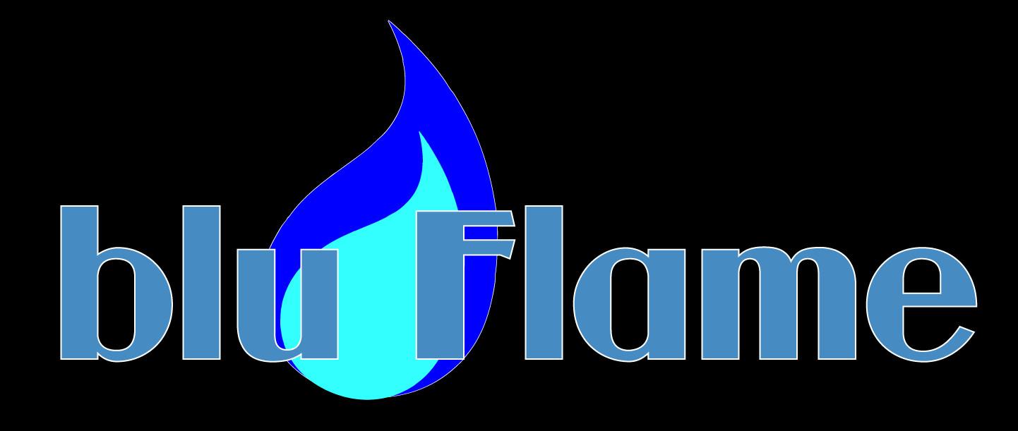 Robert garcia bluflam logo