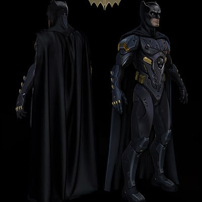 Jason hazelroth batsuit cape 3 black