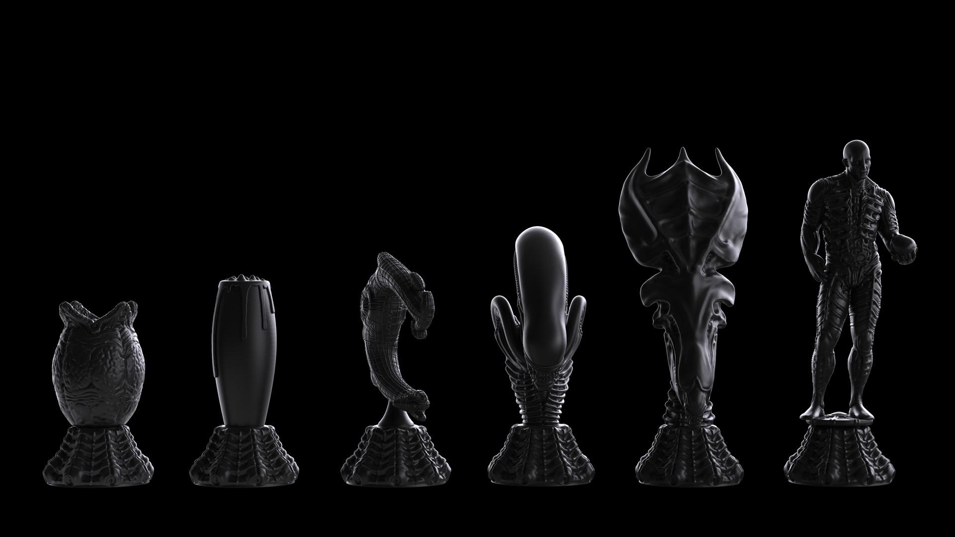 Ken calvert alien chess renders 1054