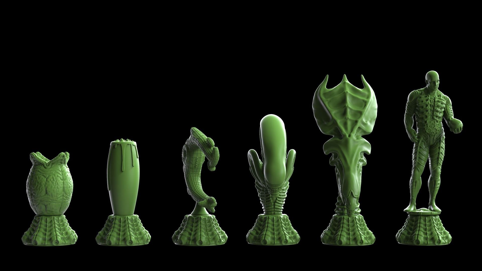 Ken calvert alien chess renders 1064