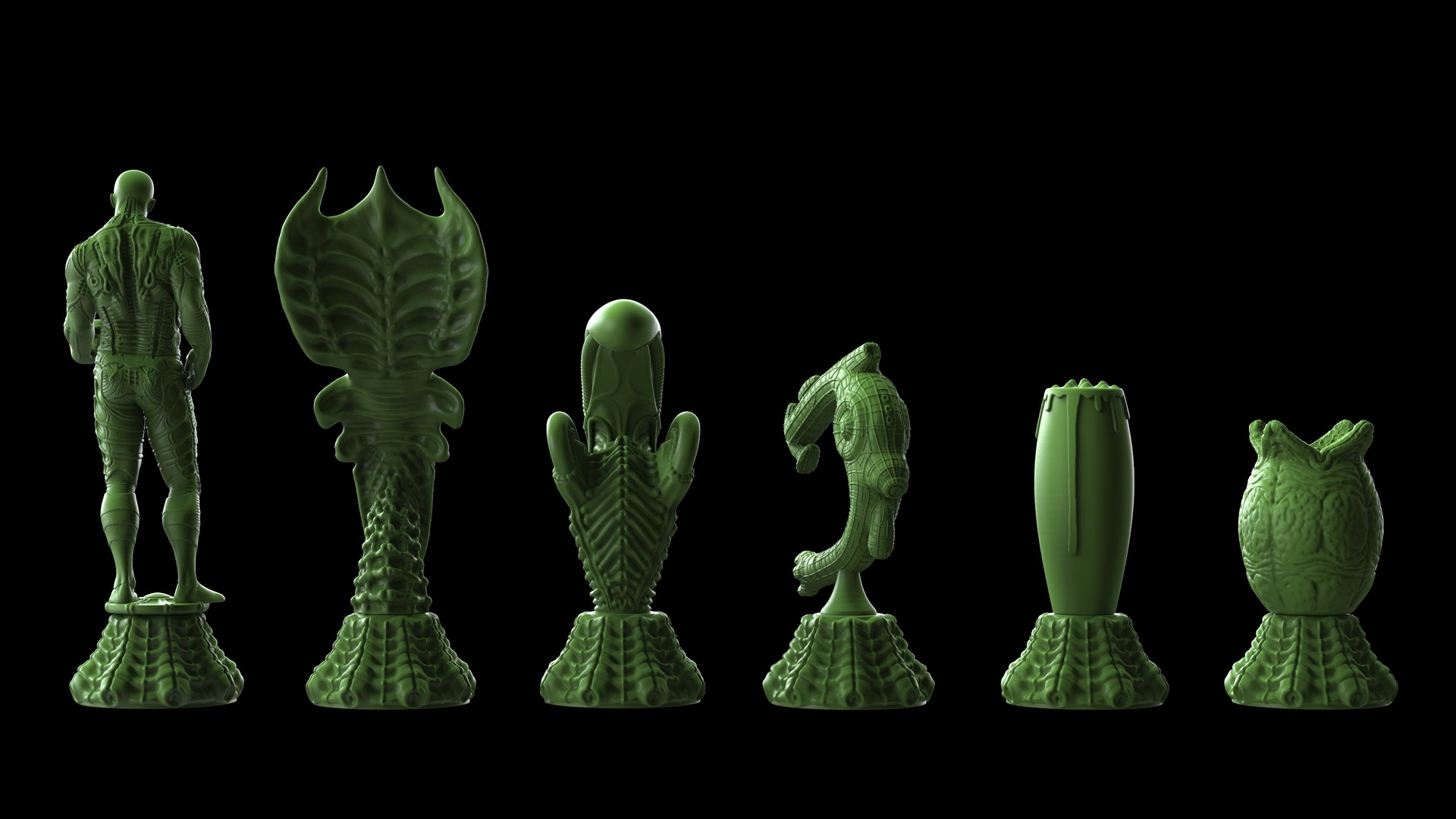 Ken calvert alien chess renders 1065