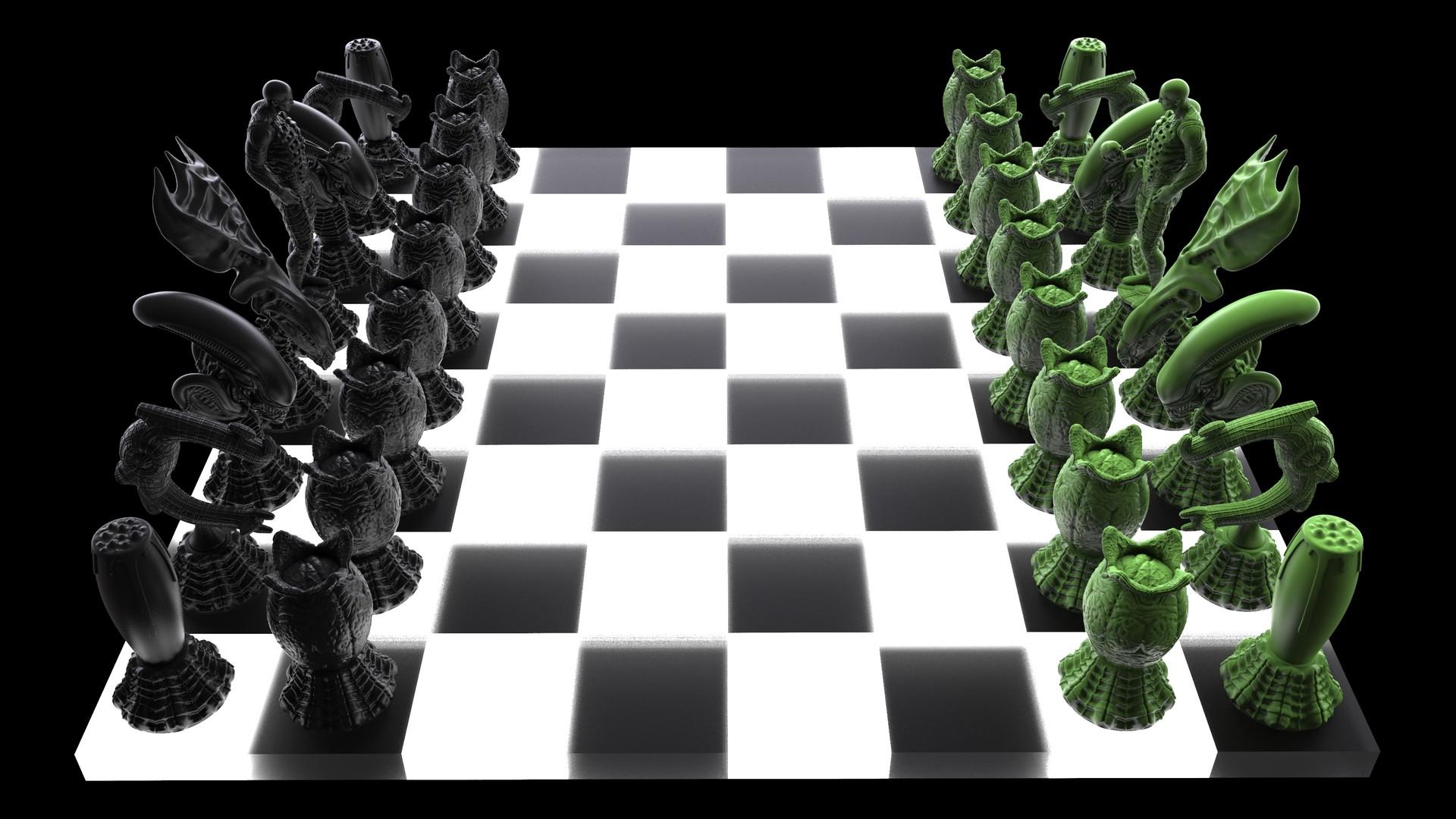 Ken calvert alien chess renders 1071