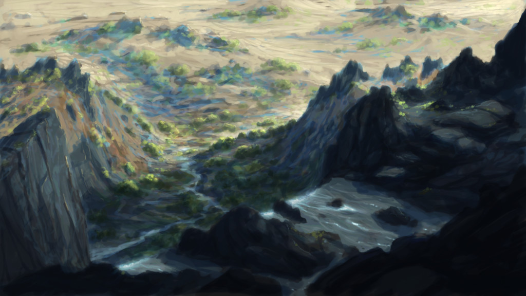 Waterfall sketch