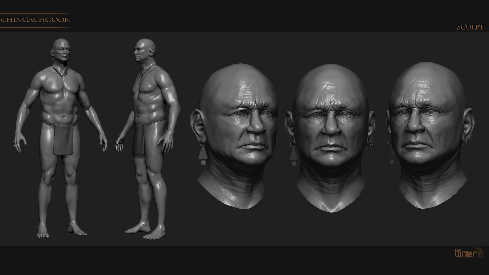 Tim turner 3d mohican sculpt