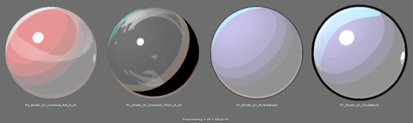 Here, I'm working with Nick Rudolph in creating an appropriate glass shader that would fit the cel shade style.