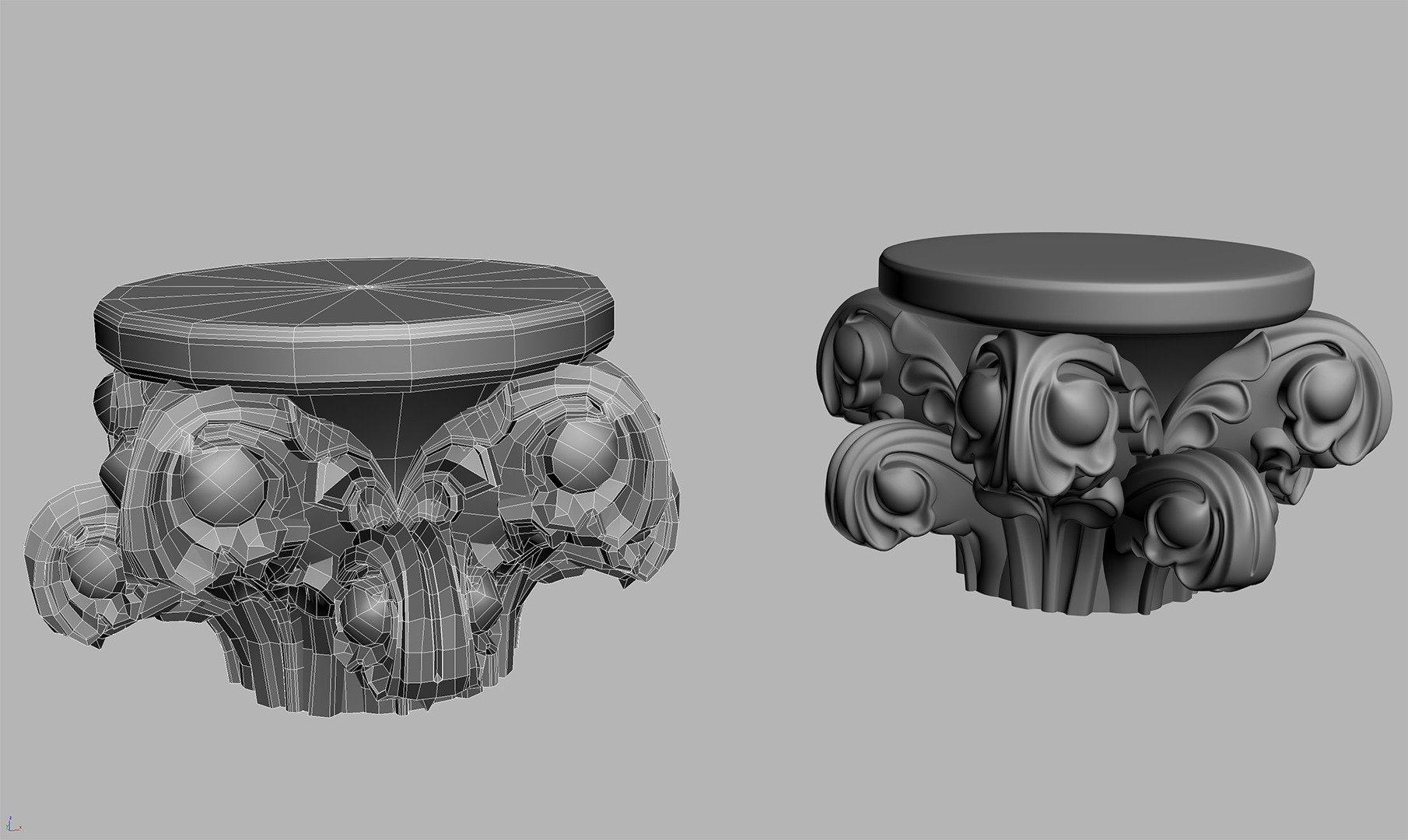 Sub-D Ornate (then dynameshed into Zbrush for baking)