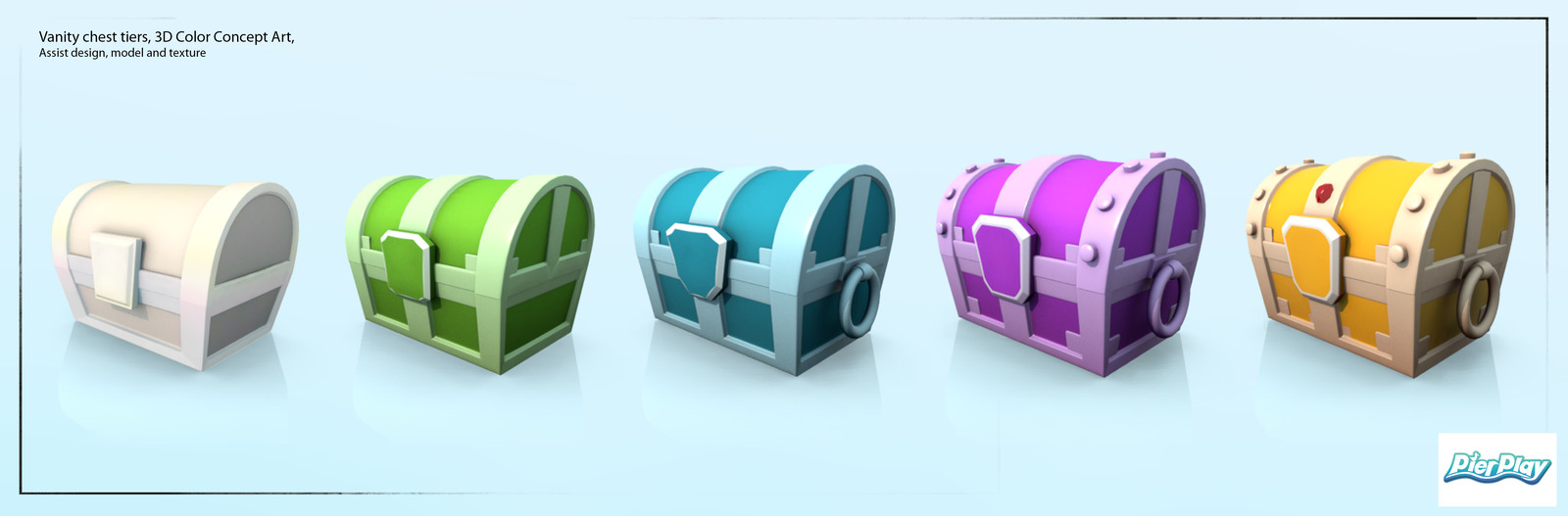 Designed Color pallets, model and texture. Assisted in the design of treasure chest.