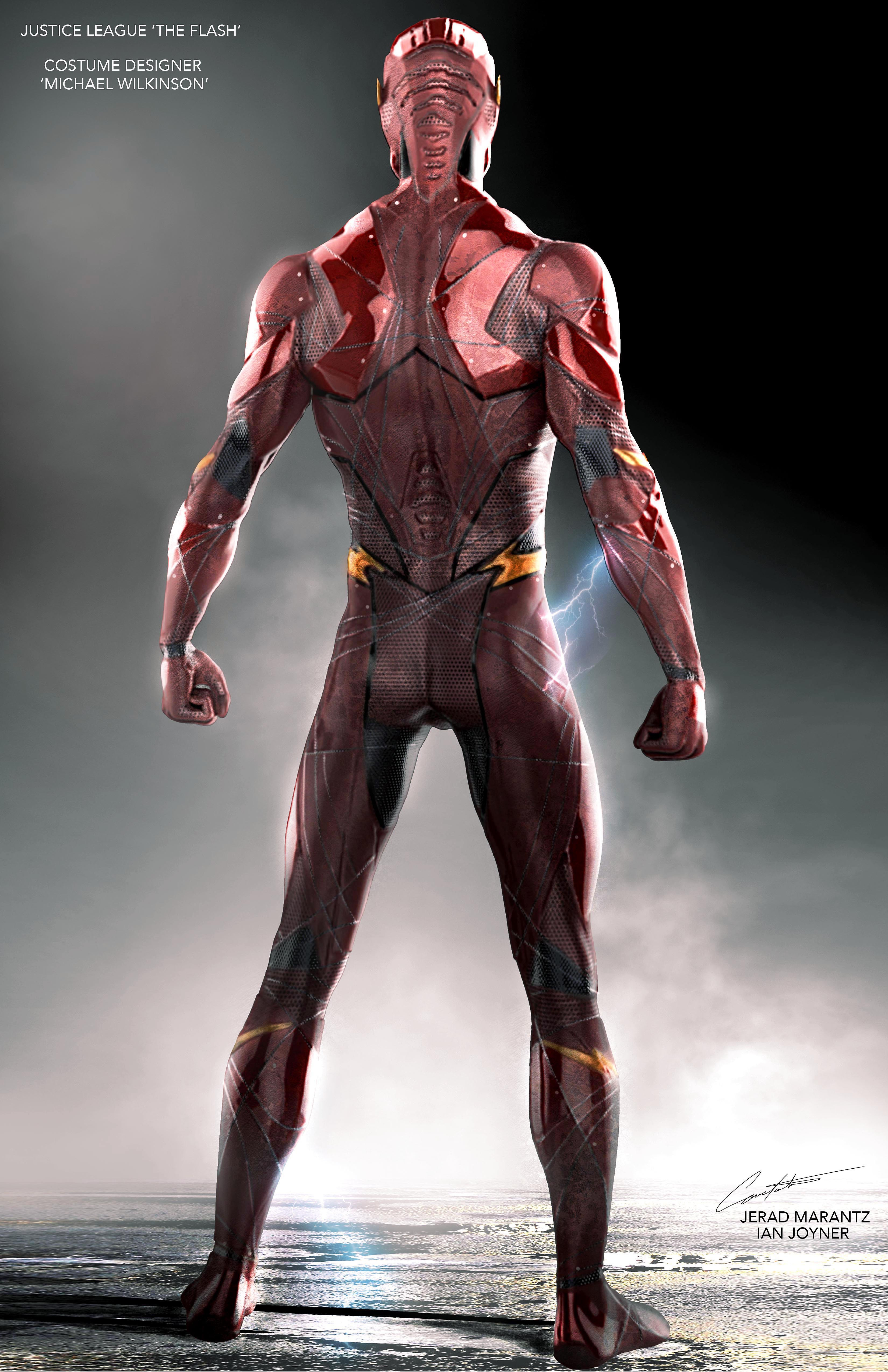 "Justice League 'The Flash"" Costume Concept Art"