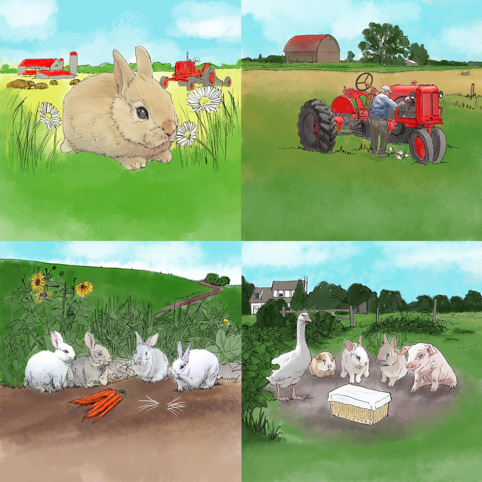Prop story book about a bunny named Bun Bun that meets a tragic ending. ABC's 'Man Up' Episode 109 Art Director : Lorin Flemming