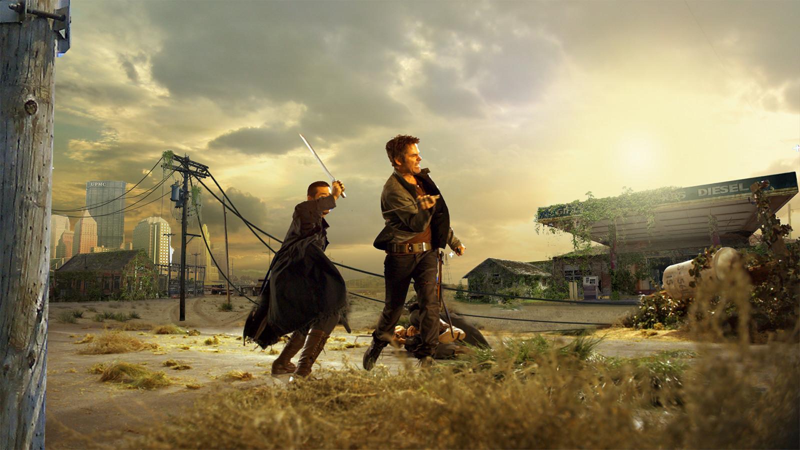 NBC 'Revolution' Promo Mattepaintings The Mill LA