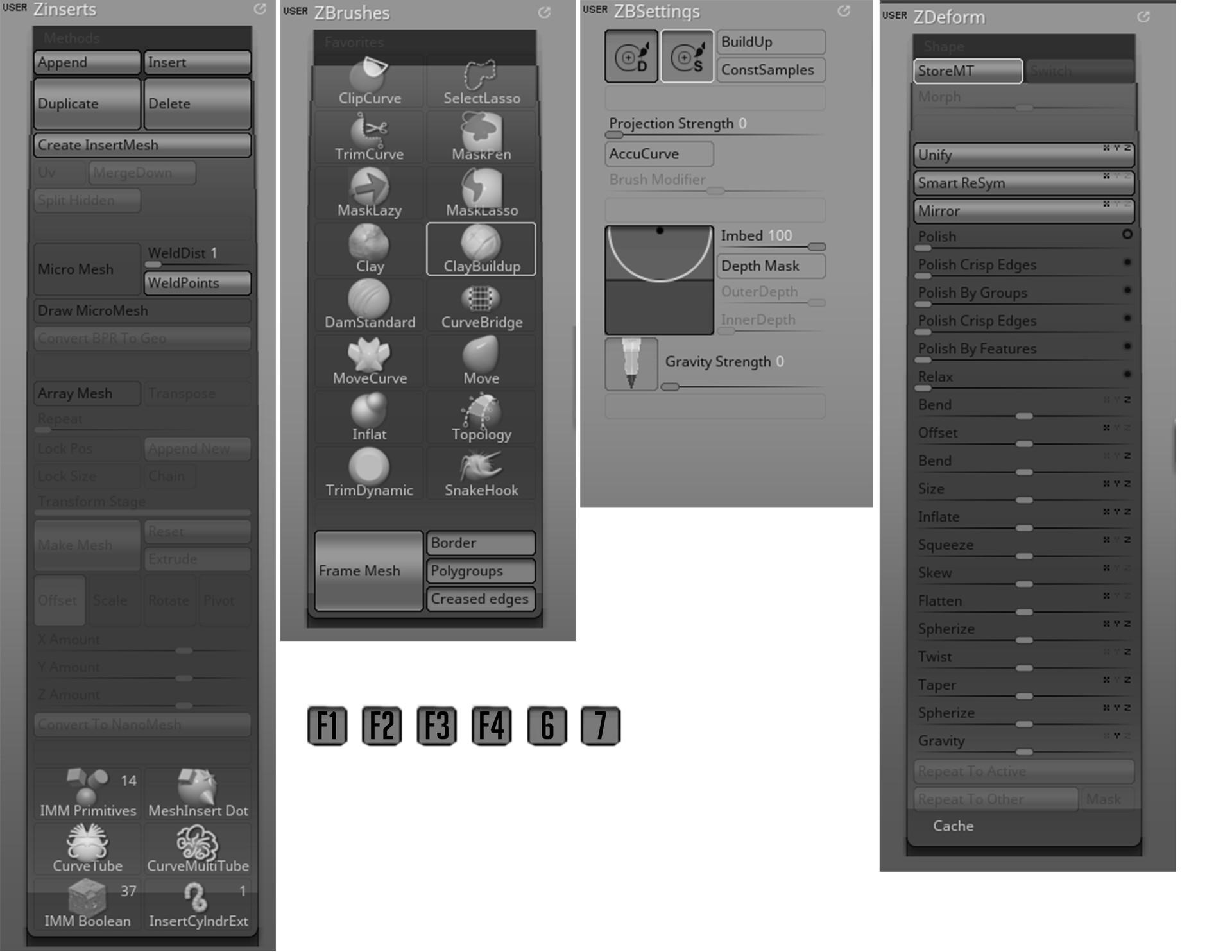 ArtStation - My ZBrush UI config,  :: Macriciox ::