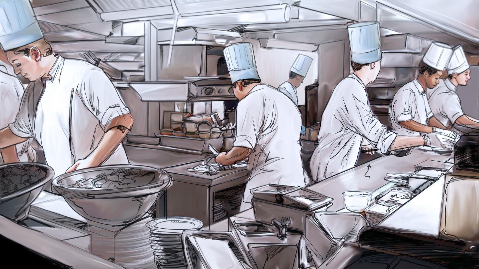 Busy Kitchen On Gabe Mcintosh Hotel Gabe 01 Color Mcintosh Busy Kitchen