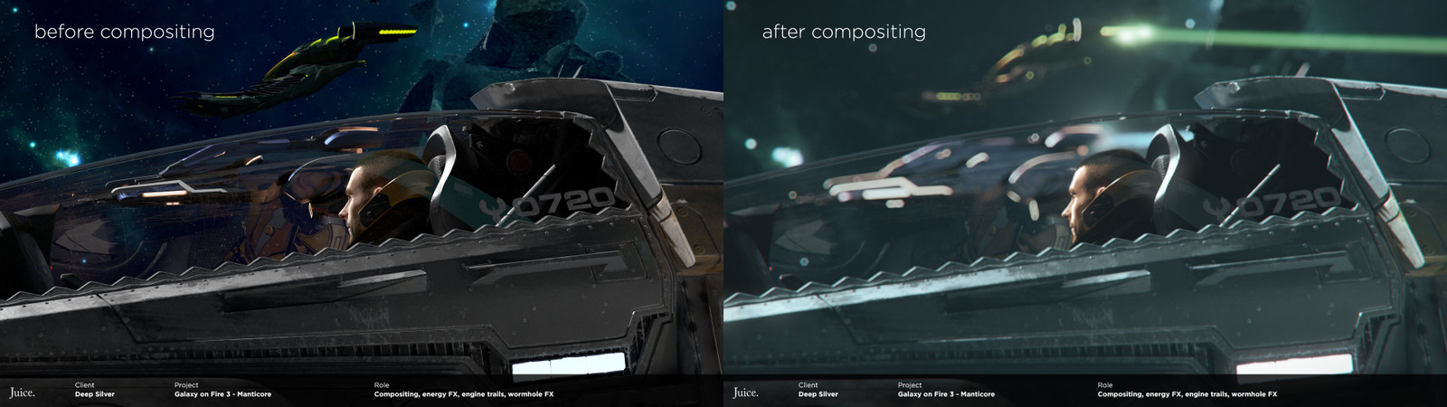 Slap comp of beatury renders vs. what I did with it