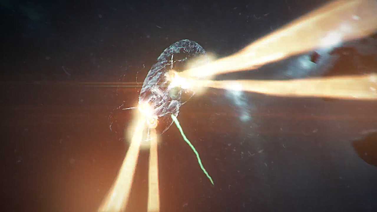 Other shot I did (compositing, engine trails and energy, energy shield)
