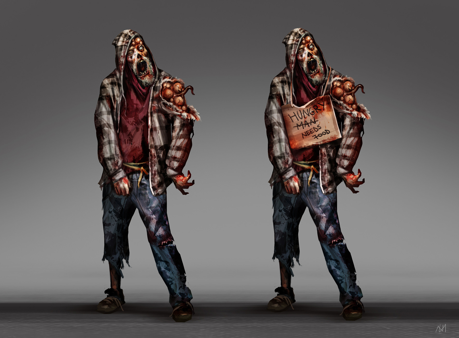 Nagy norbert hobo zombie concept