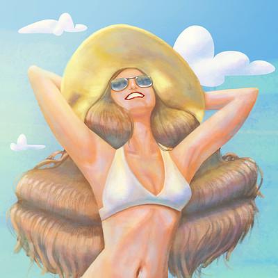 Claudie c bergeron beach printweb