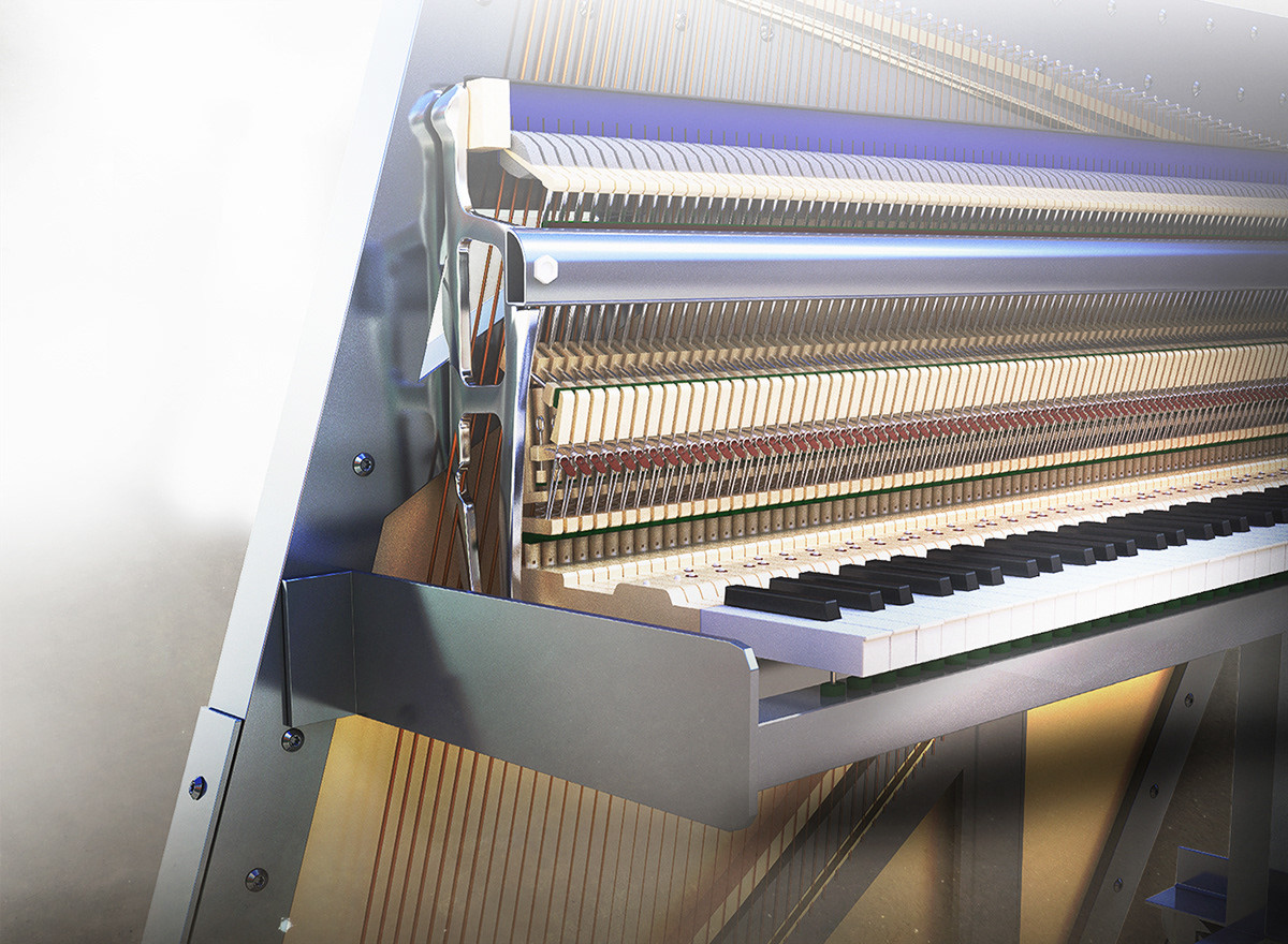 Fabian Ruf - Una Corda Piano 3d Rendering and Interface Design
