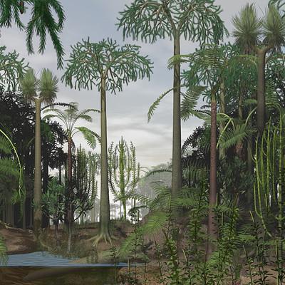 Dariusz andrulonis carboniferous forest panorama