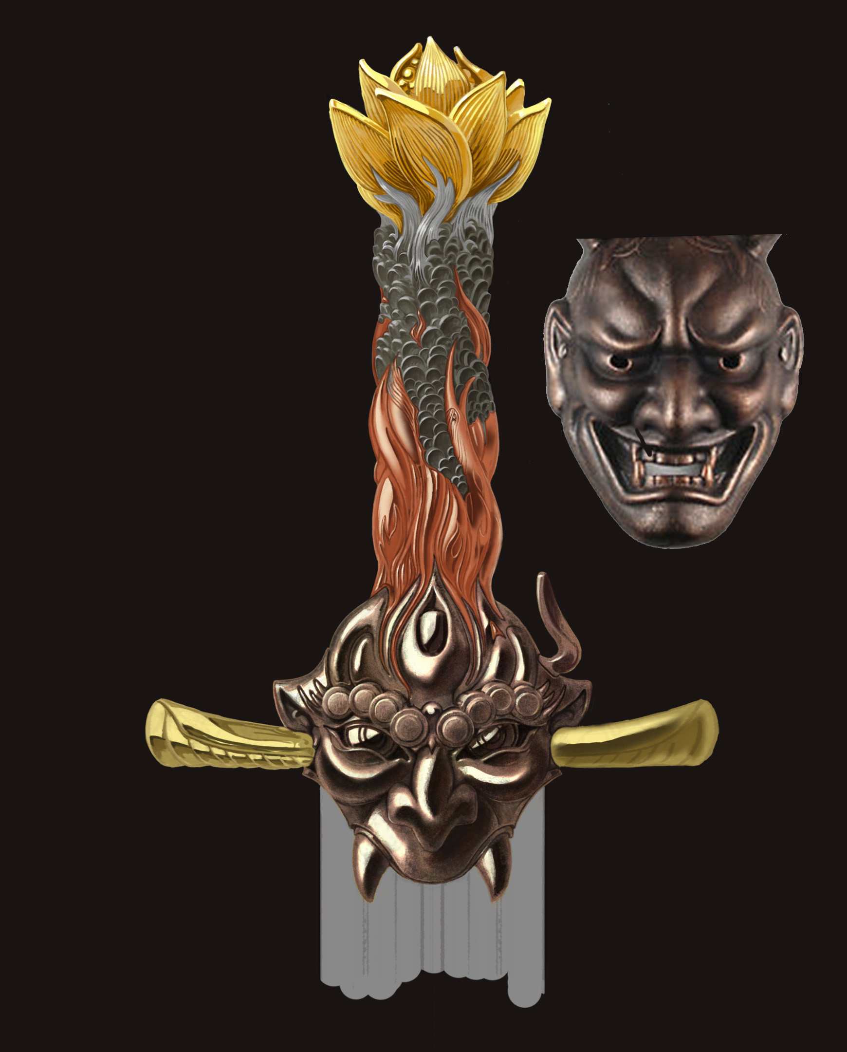 Jeff zugale sword hilt design 02 color wip2