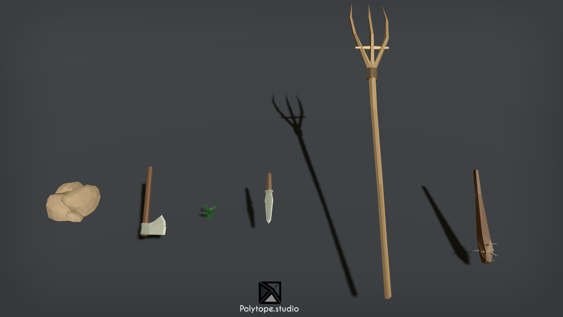 Polytope studio pt medieval peasant weapons props