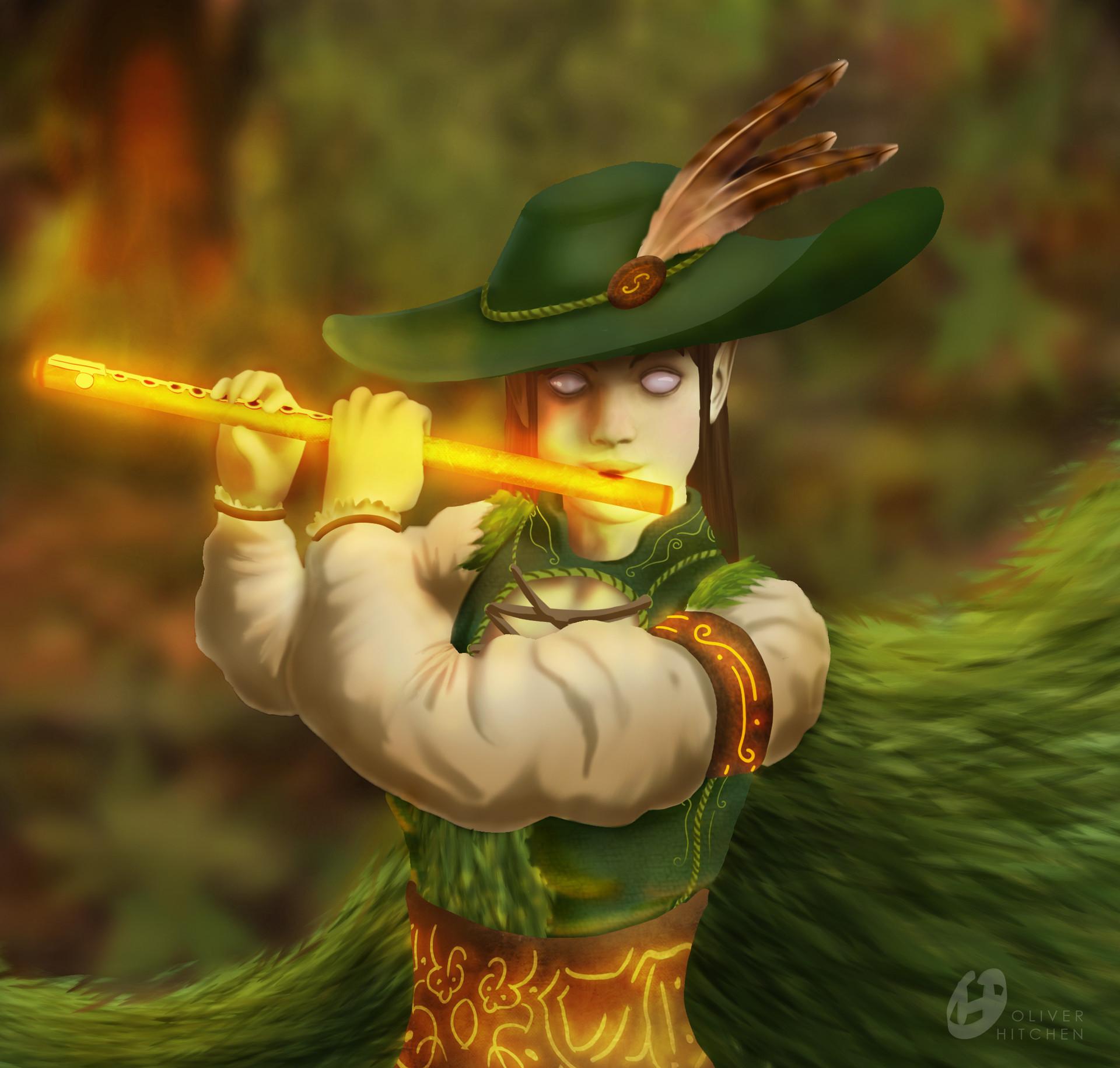 ArtStation - Wood Elf Bard DND Character Commission, Oliver Hitchen