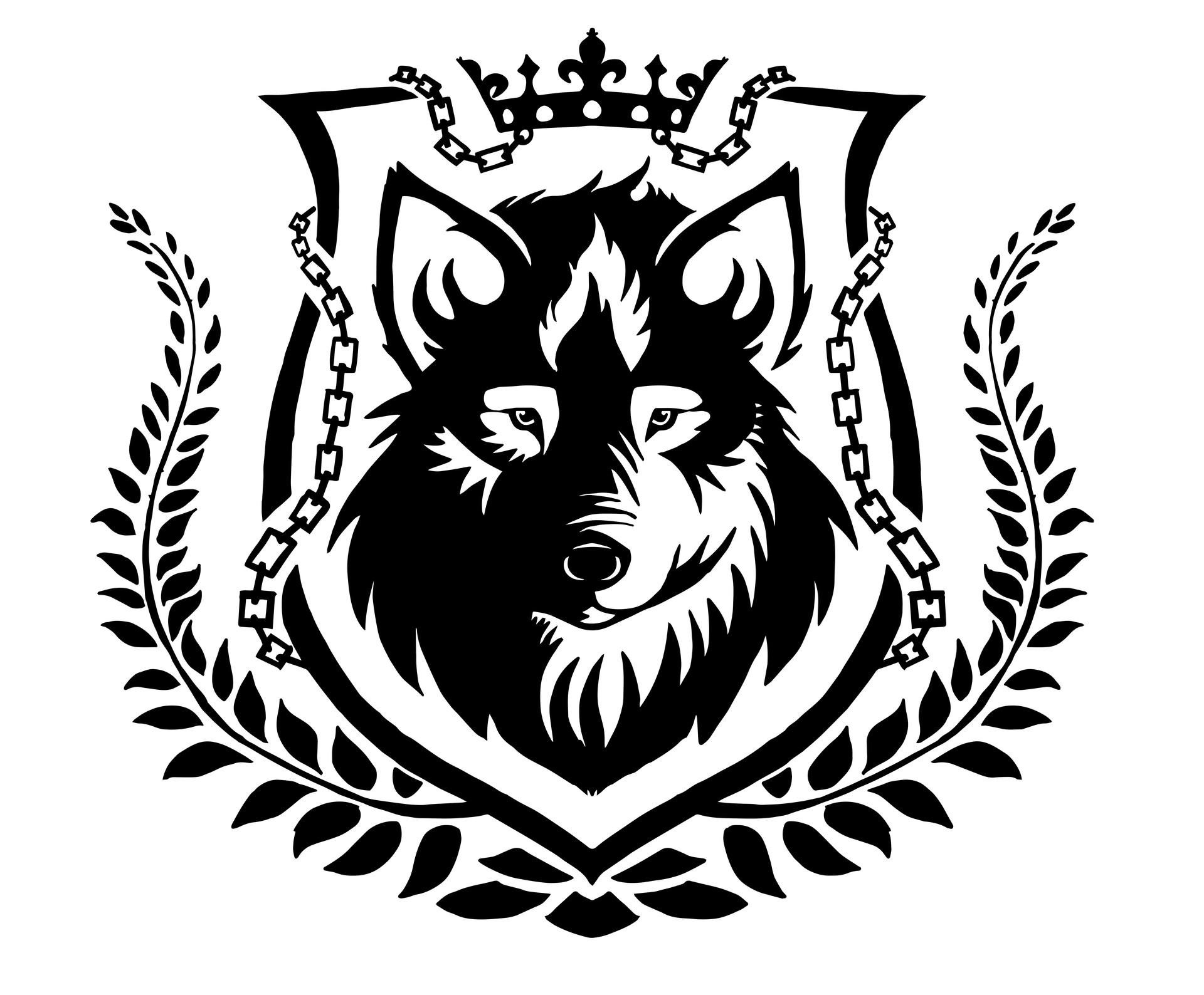 рассказала, волк с короной картинка как