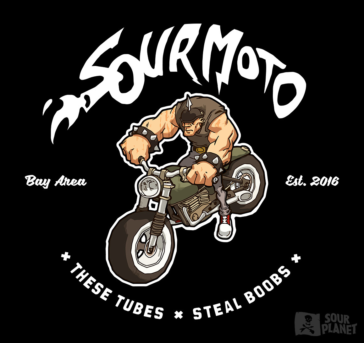 Fictional Motoclub shirt. One day!  https://sour.org/collections/sour-planet-t-shirts/products/sour-moto-club-t-shirt