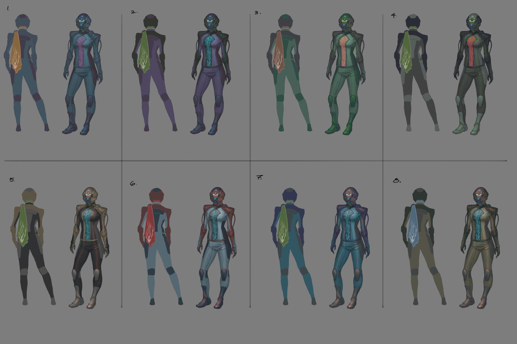 Hector ortiz concept uniform lukar colors