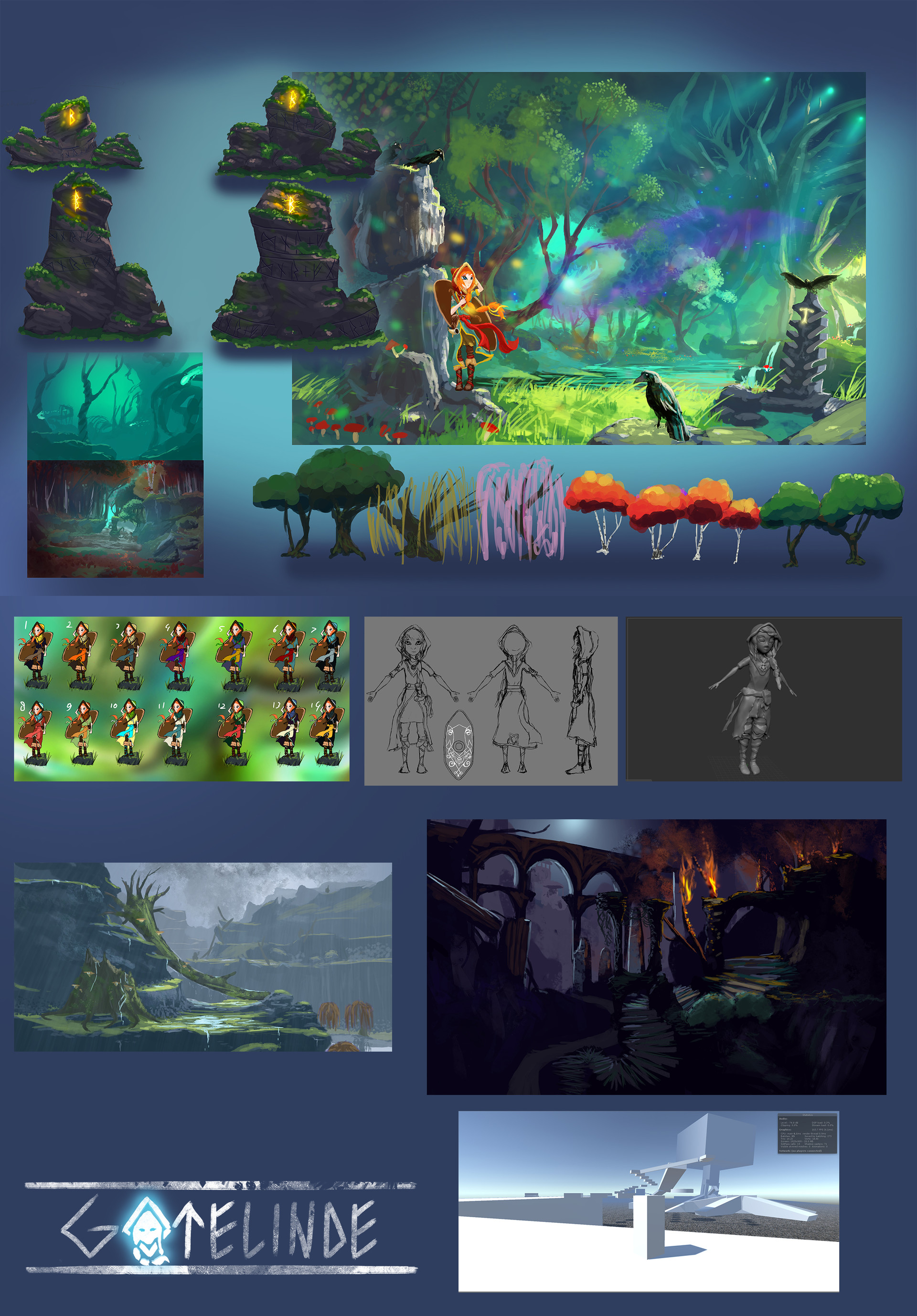 Some concept art, as well as a very early screenshot