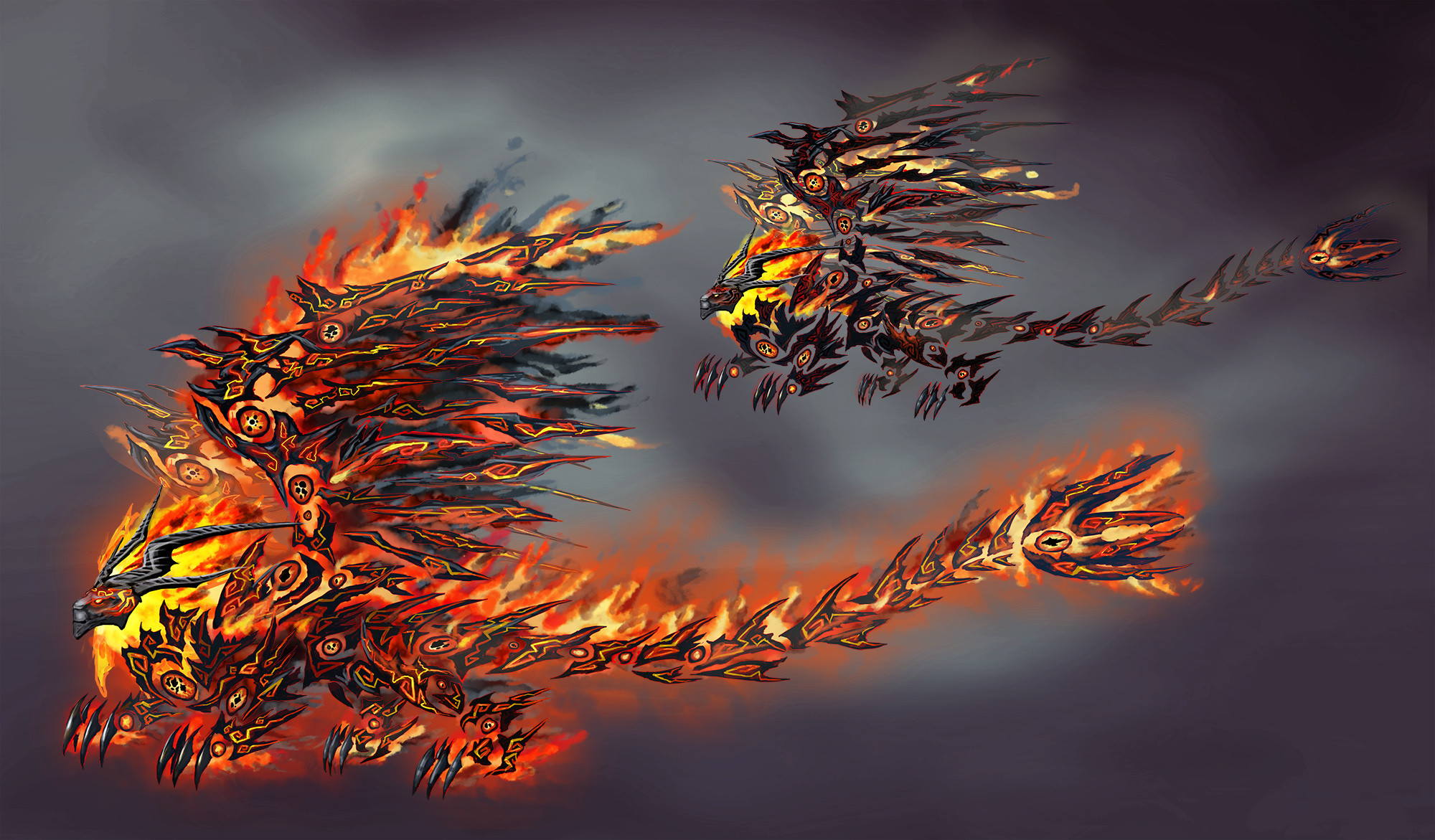 Final concept for the fire lion