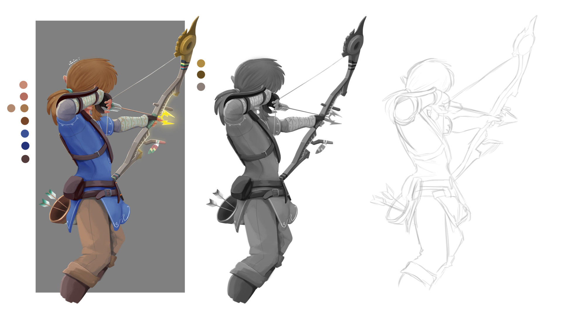 ArtStation - Link Painting and Shading Practice, Nopasin