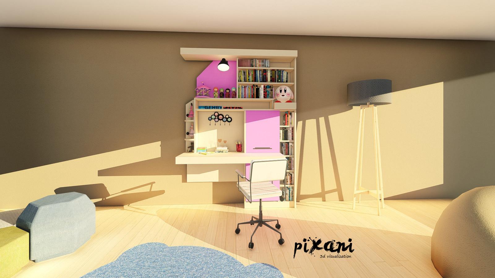 Sky & Cotton Candy Children Room || Gökyüzü & Pamuk Şeker Çocuk   FURNITURE DESIGN for CHILDREN Designed by Serdar Çakmak #pixani