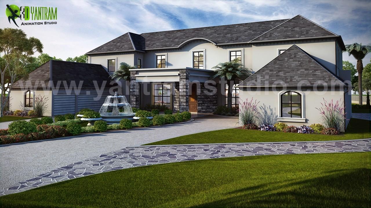 Exterior House Design Ideas By Yantram Architectural Rendering Studio    Atlanta, USA
