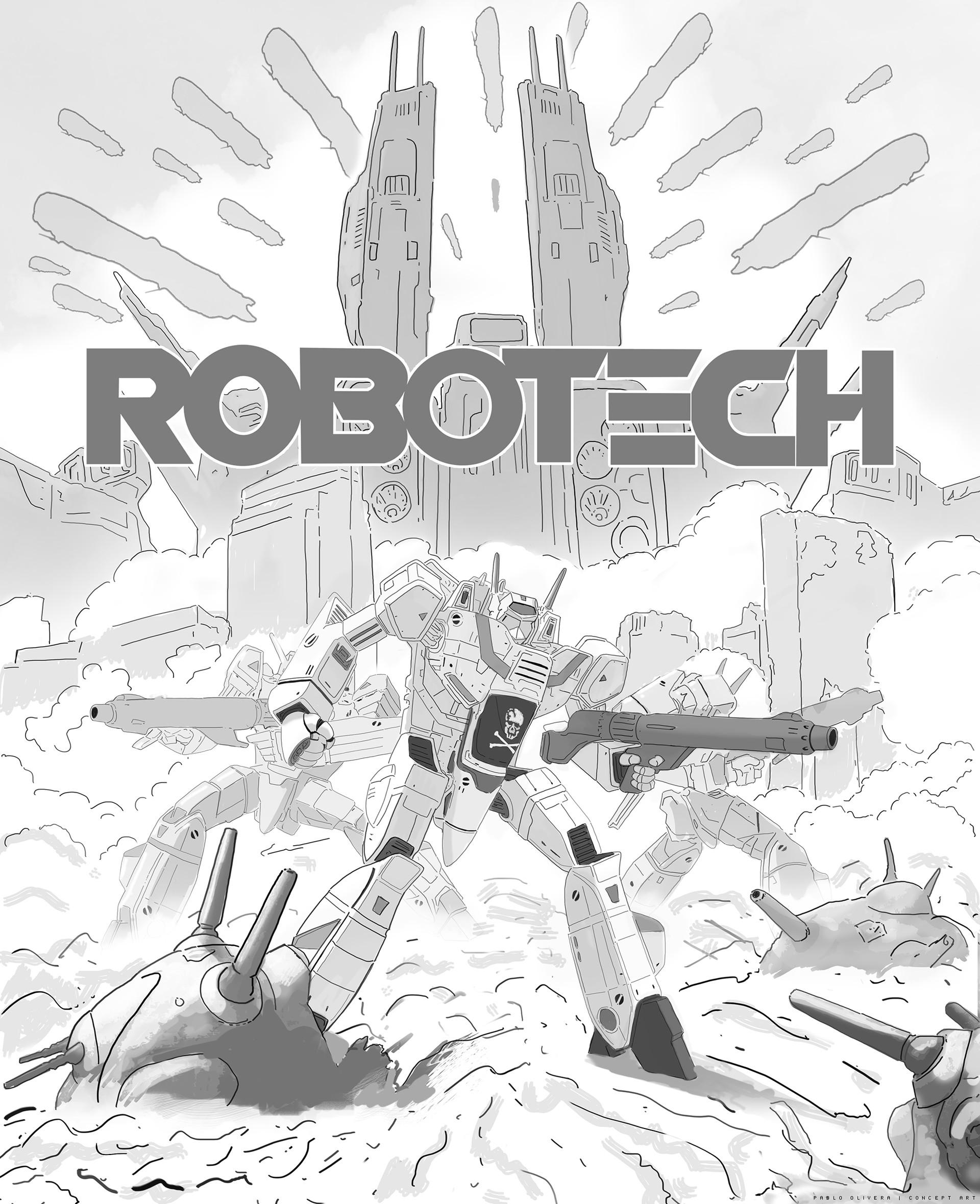 Pablo olivera robotech illustration 05