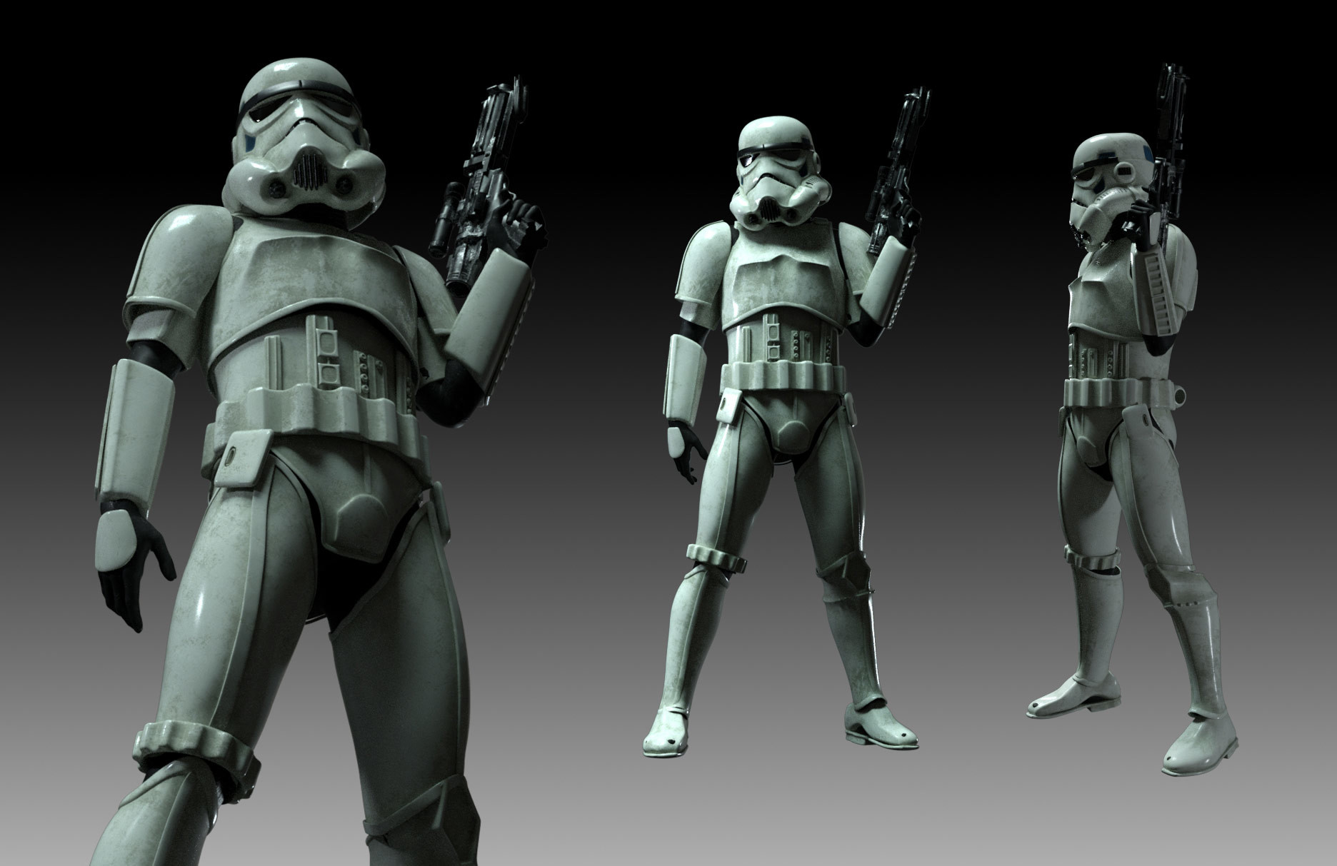 Storm trooper suit render